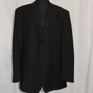Perry Ellis Portfolio Black Pinstripe Suit Jacket
